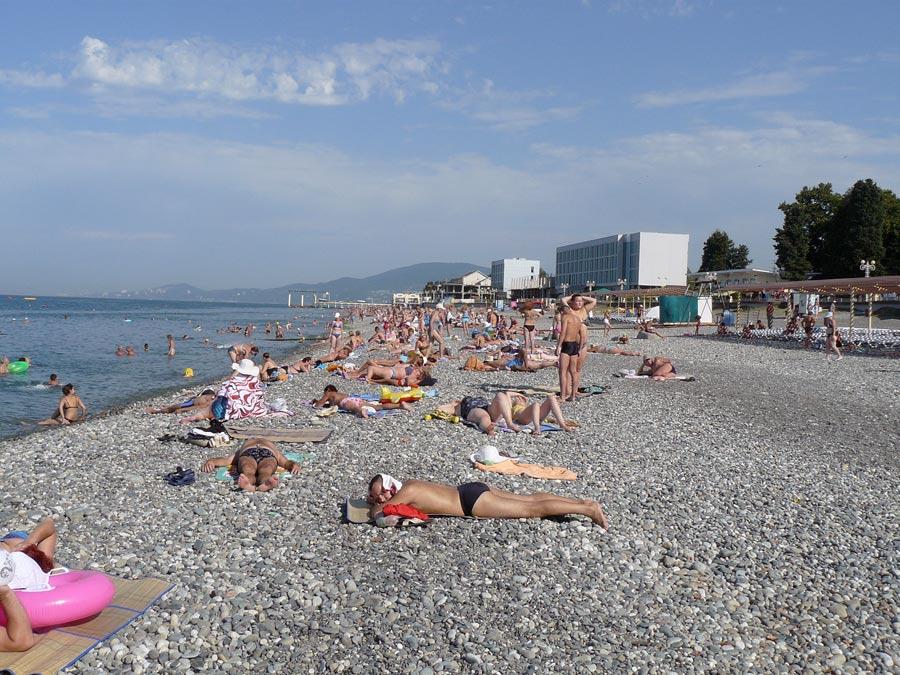 Адлер пляжа и города летом 37